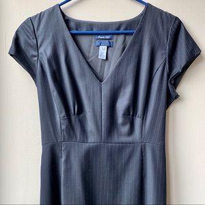 J Crew Pinstriped Wool Dress